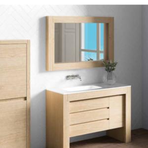 mueble de baño de madera maciza