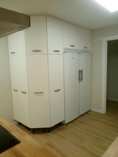 muebles de cocina formica blanca -asas