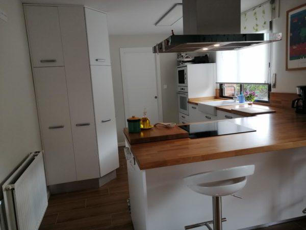encimera cocina madera maciza - roble