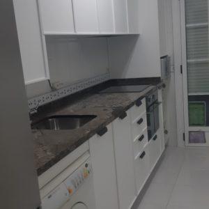 muebles cocina roble blanco poro abierto
