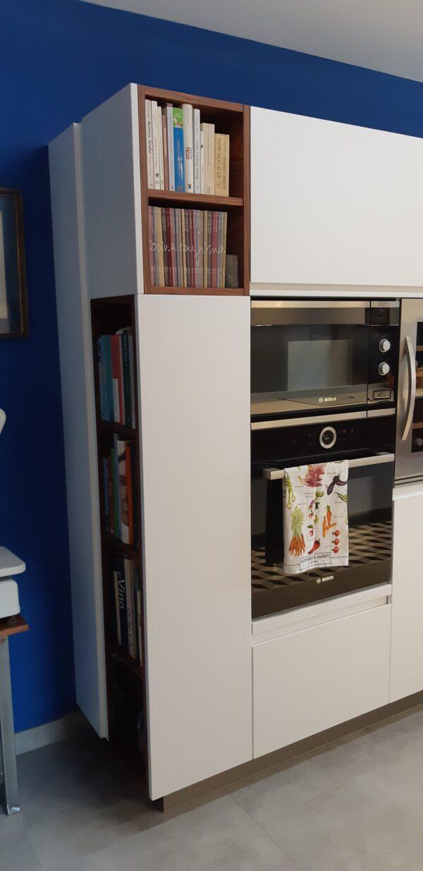 cocina laca blanca y madera